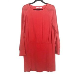See by Chloe silk coral dress